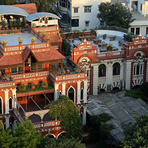 Ariel view of the House of MG Hotel