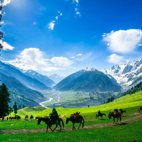Mountain landscape in Kashmir