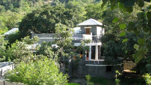Mountbatten Lodge and surrounding trees
