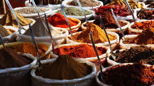 Image showing stacked Indian spices