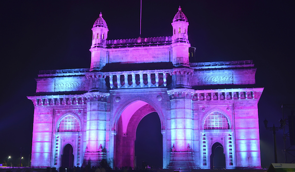 Illuminated Gateway of India