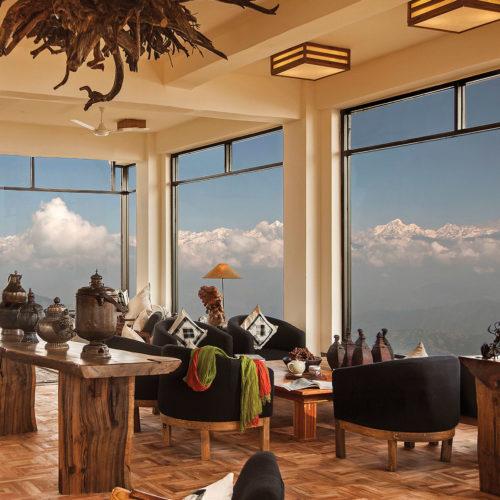 Dining area in Dwarikas Resort Nepal