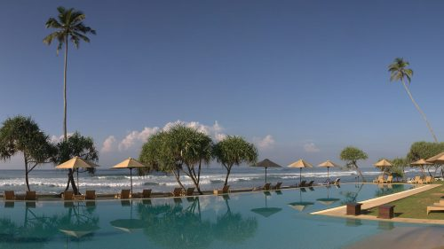 Pool and ocean views at The Fortress Hotel