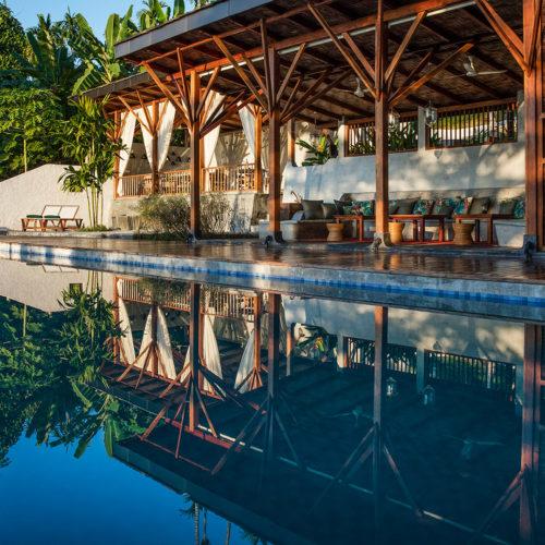 Reflection on the pool of jalakara-andaman-islands