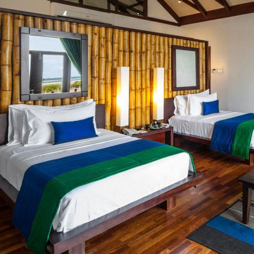 Bedroom at jungle beach