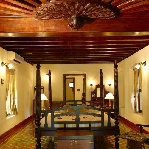Bedroom at kalari-kovilakom