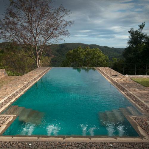 The infinity pool at the living-heritage-koslanda hotel