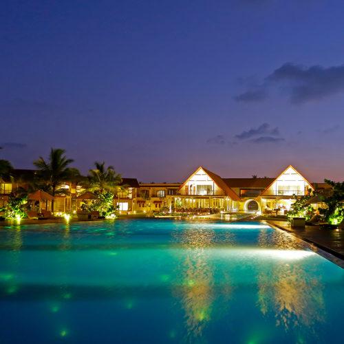uga bay pool at night