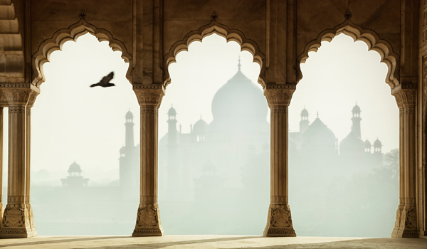 Visitors to the Agra Fort can enjoy views of both landmarks at once © tunart/iStock