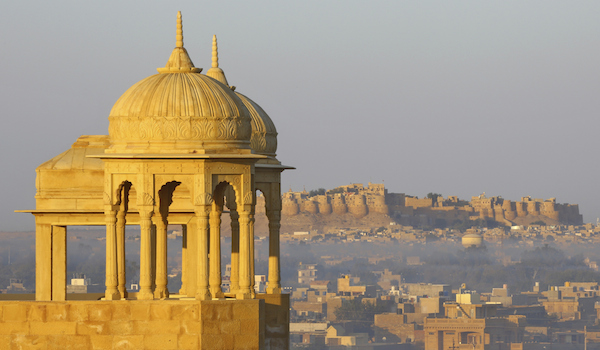Beautiful India, panorama of Jaisalmer castle, Rajasthan
