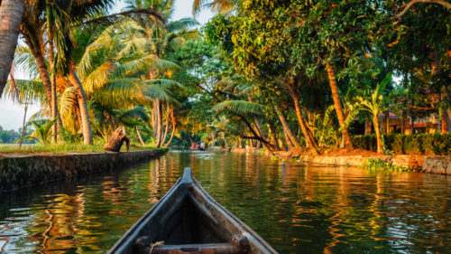 boat on kerala backwaters