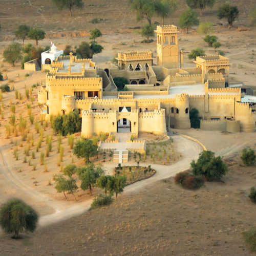Mihir Garh from ariel view