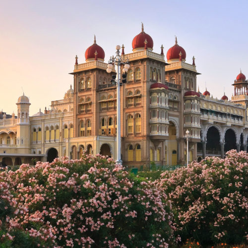 Mysore Palace at sunset