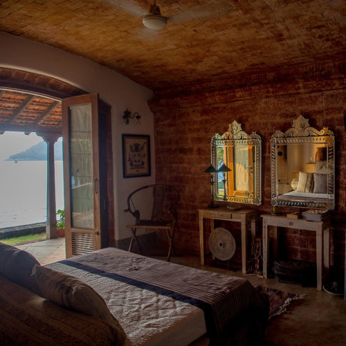 Image of bedroom at the Ahilya by the sea hotel
