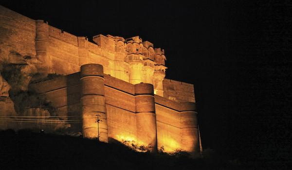 Mehrangarh Fort, Jodhpur at night
