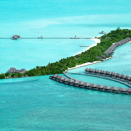 Ariel view of Taj Exotica Resort and Spa, Maldives