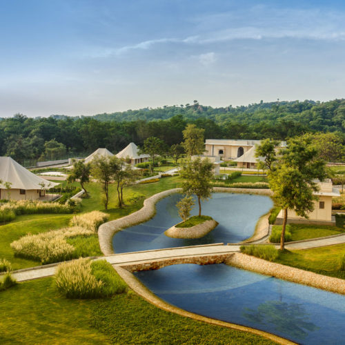 Ariel view of The Oberoi Sukhvilas