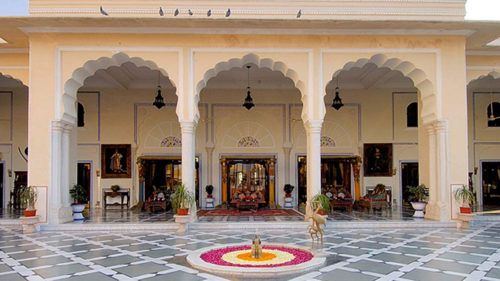 Outside area at The Raj Palace