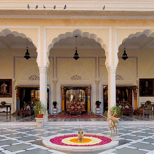 Outside area at The Raj Palace