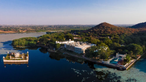 Ariel view of Udai Bilas Palace