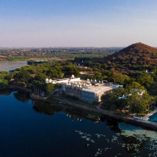 Ariel view of Udai Bilas Palace
