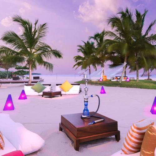 Beach bar at Uga Bay