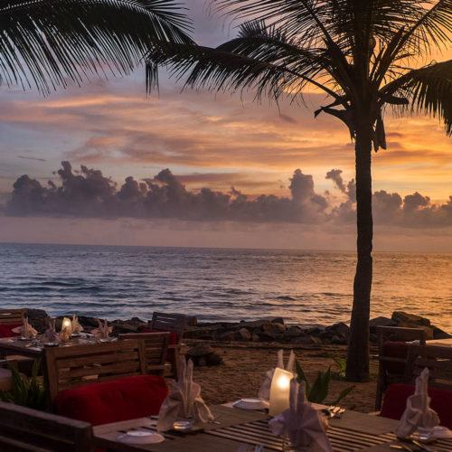 Dinner on the beach at Vivanta by Taj, Kovalam