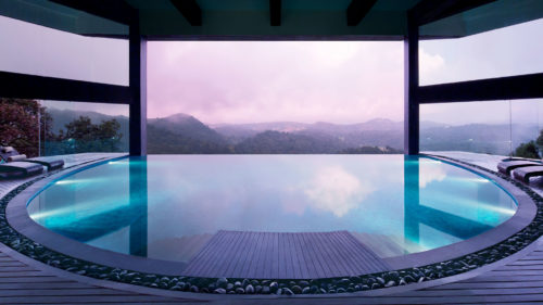 Poolside view from Vivanta by Taj, Madikeri Coorg