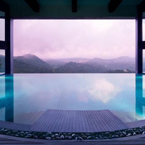 Poolside view from Vivanta by Taj, Madikeri Coorg