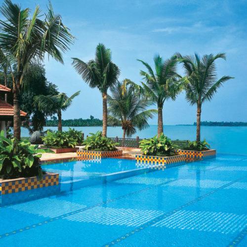 Pool and ocean view at Vivanta by Taj, Malabar