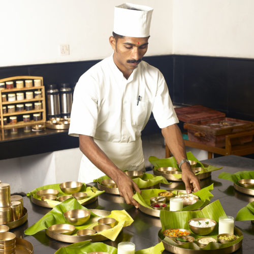 Chef preparing food