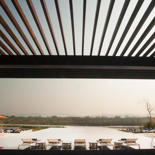 meghauli-serai-view-out-to-the-pool-from-the-hotel
