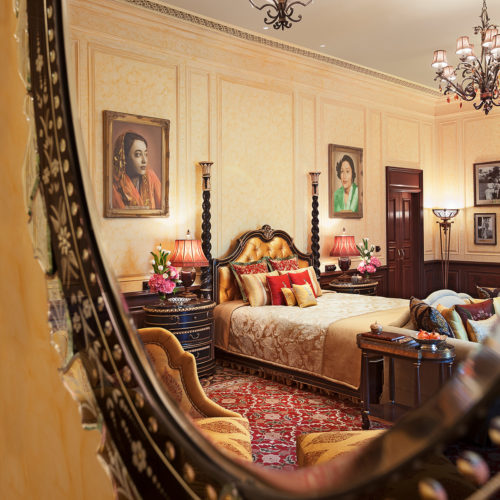 taj-rambagh-palace-view-of-a-bedroom-from-a-mirror