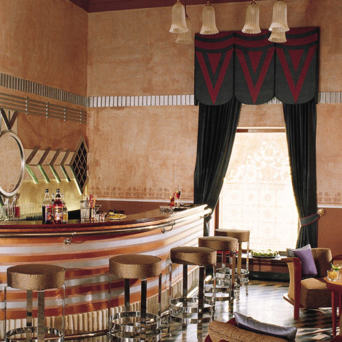 Bar area at the Taj Usha Kiran Palace