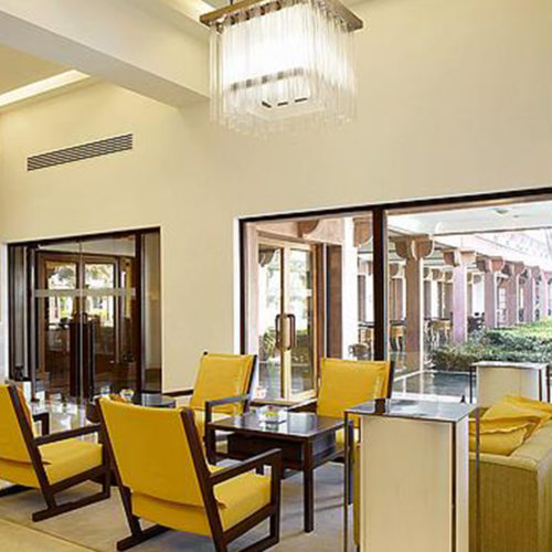 The looby at the Trident Agra