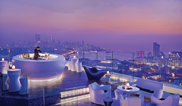 Aer is Mumbai's swankiest rooftop bar © The Four Seasons