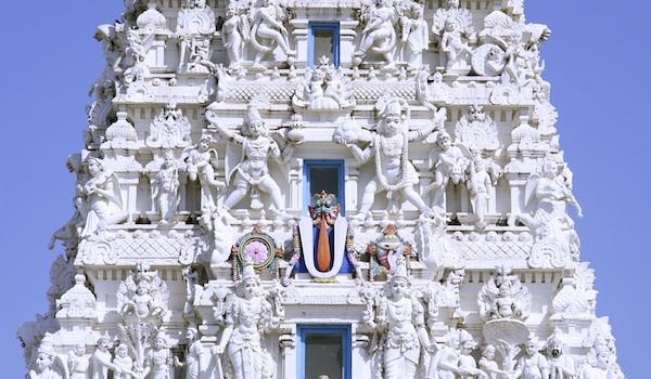 ancient hindu temple in pushkar, india