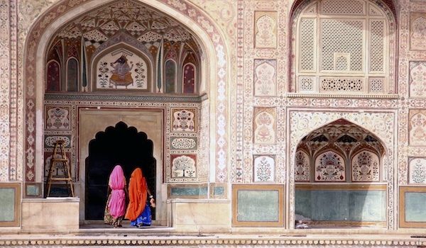Woman in Amber fort