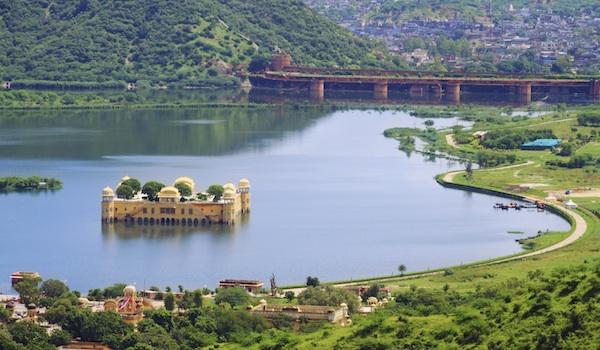 Top View Of Jaipur Jal Mahal