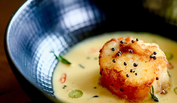 Chef Nayak's food, like this Keralan uni moilee, is a balance of the modern and traditional © Chef Hari Nayak