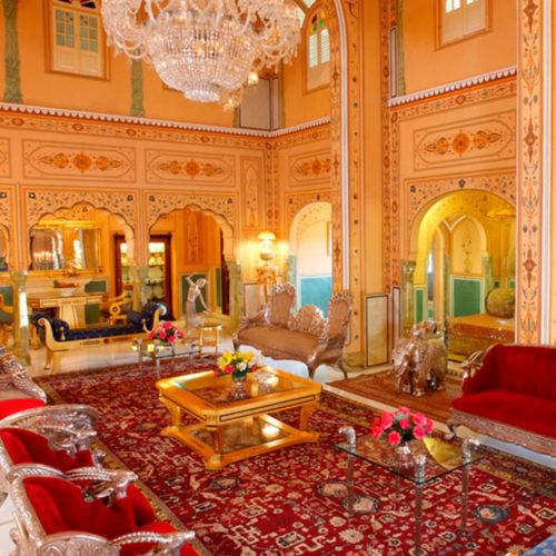 raj palace lounge area