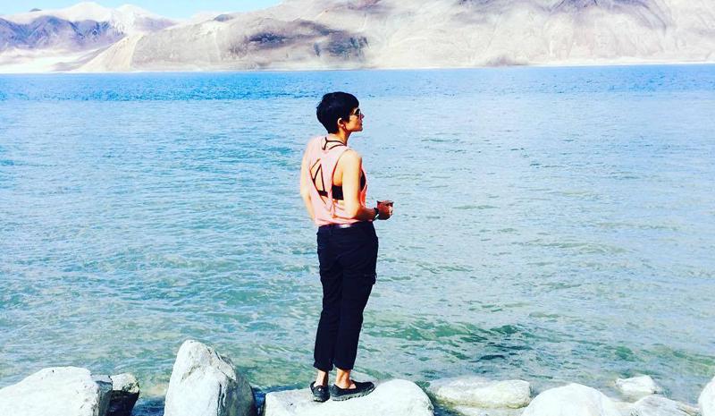 Mandira Bedi | Pangong Lake