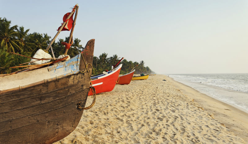 Best Beaches in India | Fishing boats