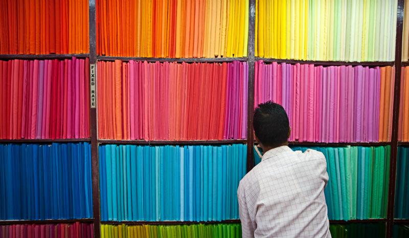 Shopping India | Colourful fabric