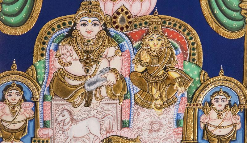 Tamil Nadu Handicrafts | Tanjore painting www