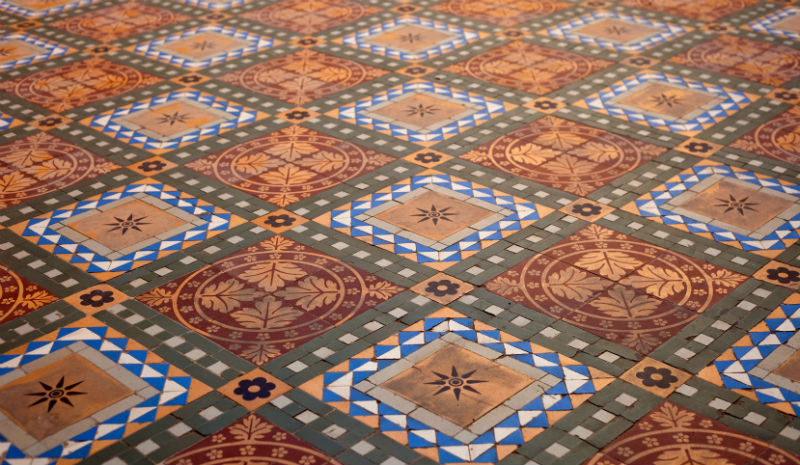 Tamil Nadu Handicrafts | Tiled floor