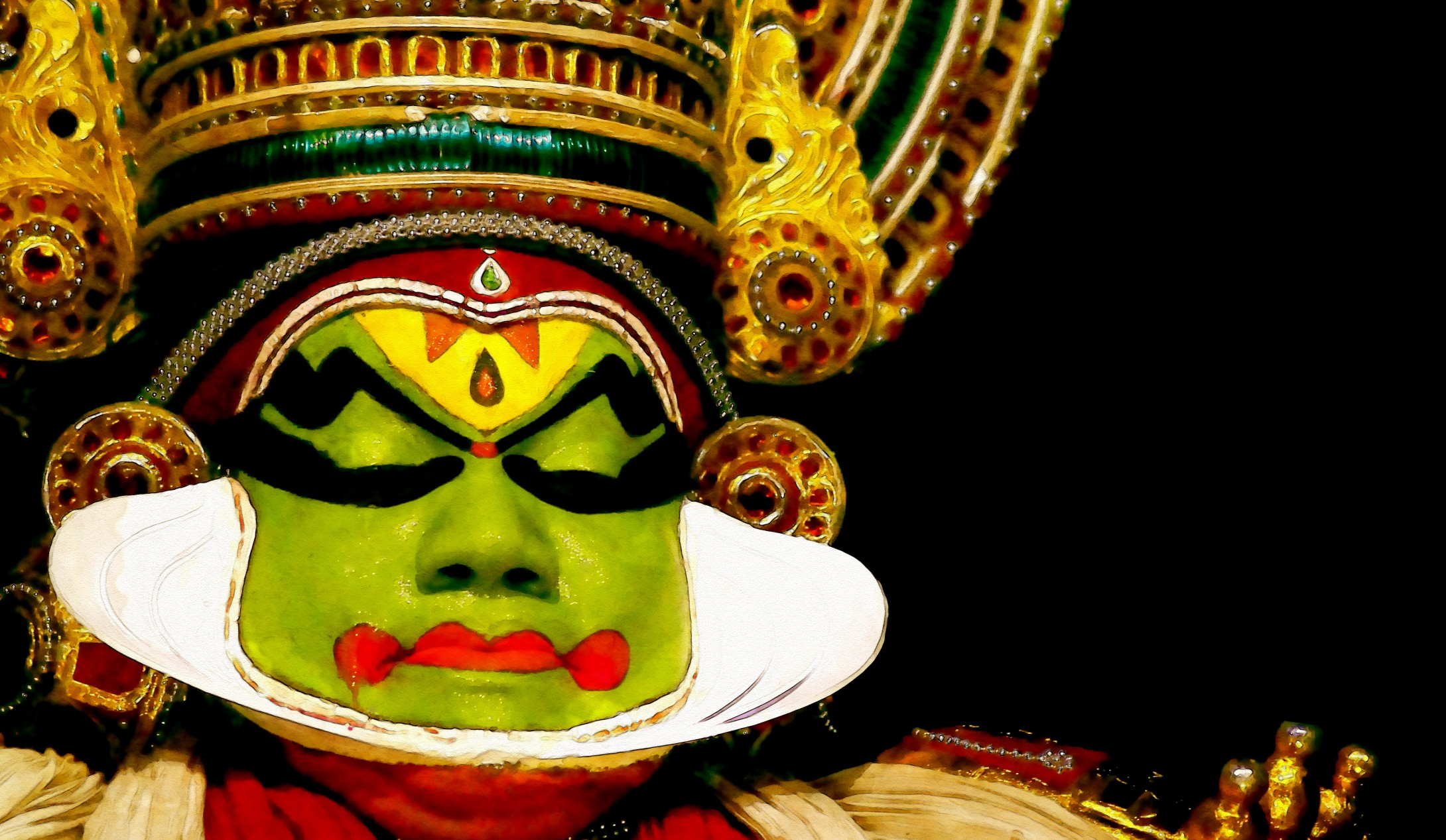 India Itinerary | Kathakali_credit Aapthamithra_iStock_Thinkstock - http___www.thinkstockphotos.co.uk_image_stock-photo-the-face-painted-dancer_472973442