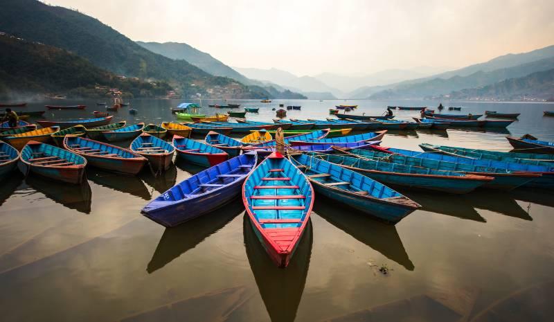 Nepal Honeymoon Boats on Phewa Lake